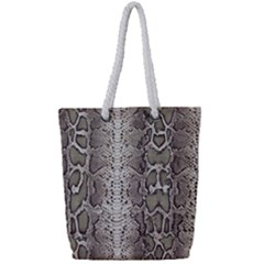 Snake Skin Full Print Rope Handle Tote (small)