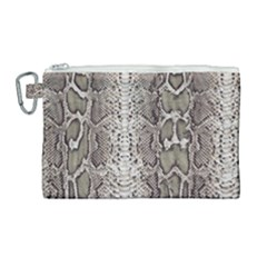 Snake Skin Canvas Cosmetic Bag (large)