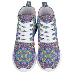 Colorful Flowers Women s Lightweight High Top Sneakers