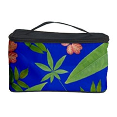 Leaves On Blue Cosmetic Storage Case