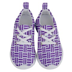 Woven1 White Marble & Purple Brushed Metal (r) Running Shoes
