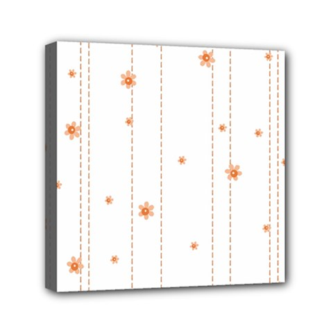 Background Salmon Pink White Motive Mini Canvas 6  X 6  by Sapixe