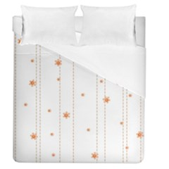 Background Salmon Pink White Motive Duvet Cover (queen Size) by Sapixe