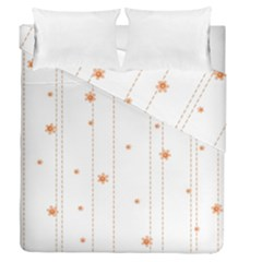 Background Salmon Pink White Motive Duvet Cover Double Side (queen Size) by Sapixe