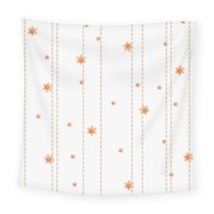 Background Salmon Pink White Motive Square Tapestry (large) by Sapixe