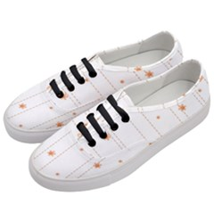 Background Salmon Pink White Motive Women s Classic Low Top Sneakers by Sapixe