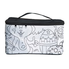 Coloring Picture Easter Easter Bunny Cosmetic Storage Case