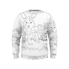 Coloring Picture Easter Easter Bunny Kids  Sweatshirt