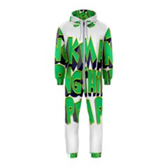 Act Do Text Make Tackle Implement Hooded Jumpsuit (kids)