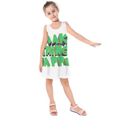 Act Do Text Make Tackle Implement Kids  Sleeveless Dress