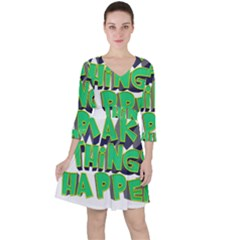 Act Do Text Make Tackle Implement Ruffle Dress