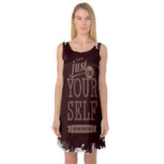 Encourage Motivation Tackle Things Sleeveless Satin Nightdress