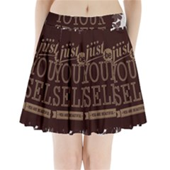 Encourage Motivation Tackle Things Pleated Mini Skirt