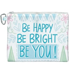 Motivation Positive Inspirational Canvas Cosmetic Bag (xxxl) by Sapixe