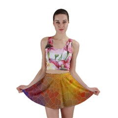 Colors Modern Contemporary Graphic Mini Skirt