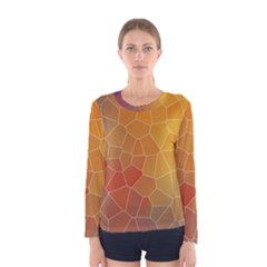 Colors Modern Contemporary Graphic Women s Long Sleeve Tee
