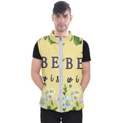 Best Wishes Yellow Flower Greeting Men s Puffer Vest