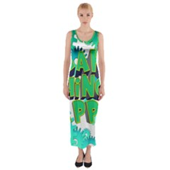 Gears Gear Interaction Act Do Fitted Maxi Dress