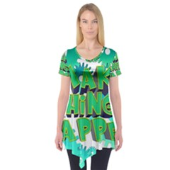 Gears Gear Interaction Act Do Short Sleeve Tunic  by Sapixe
