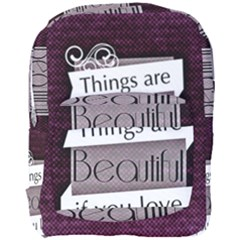 Beautiful Things Encourage Full Print Backpack by Sapixe