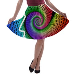 Head Spiral Self Confidence A Line Skater Skirt