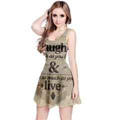 Motivational Calligraphy Grunge Reversible Sleeveless Dress