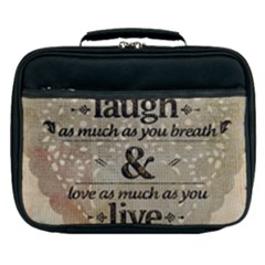 Motivational Calligraphy Grunge Lunch Bag