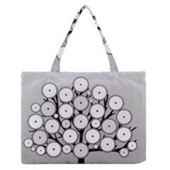 Gears Tree Structure Networks Zipper Medium Tote Bag