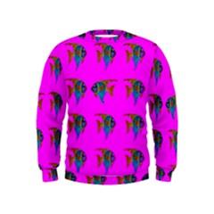 Opposite Way Fish Swimming Kids  Sweatshirt