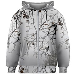 Tree Nature Landscape Kids Zipper Hoodie Without Drawstring