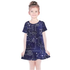 Networks Internet Social Kids  Simple Cotton Dress