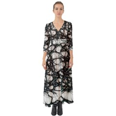 Mindset Neuroscience Thoughts Button Up Boho Maxi Dress