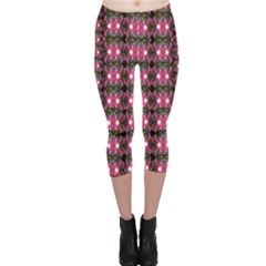 Butterflies In A Wonderful Forest Of Climbing Flowers Capri Leggings