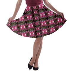 Butterflies In A Wonderful Forest Of Climbing Flowers A Line Skater Skirt