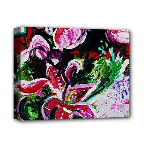 Lilac And Lillies 3 Deluxe Canvas 14  X 11  by bestdesignintheworld