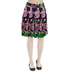 Lilac And Lillies 3 Pleated Skirt