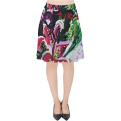 Lilac And Lillies 3 Velvet High Waist Skirt