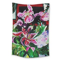 Lilac And Lillies 3 Large Tapestry by bestdesignintheworld