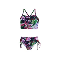 Lilac And Lillies 3 Girls  Tankini Swimsuit