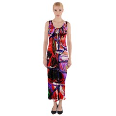 Depression 6 Fitted Maxi Dress