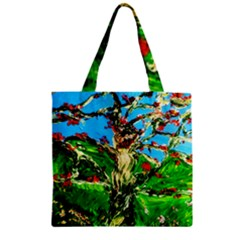 Coral Tree 2 Zipper Grocery Tote Bag