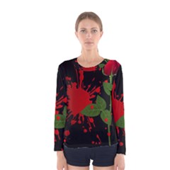 Background Texture Stain Women s Long Sleeve Tee