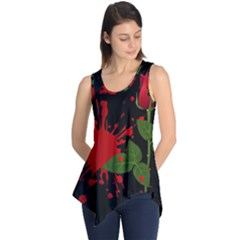 Background Texture Stain Sleeveless Tunic