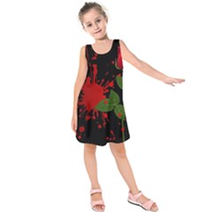 Background Texture Stain Kids  Sleeveless Dress