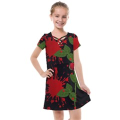 Background Texture Stain Kids  Cross Web Dress