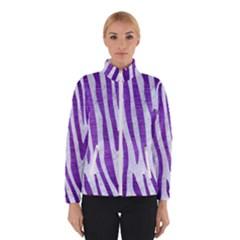 Skin4 White Marble & Purple Brushed Metal Winterwear