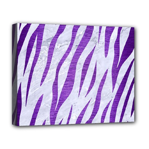 Skin3 White Marble & Purple Brushed Metal (r) Deluxe Canvas 20  X 16