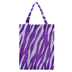 Skin3 White Marble & Purple Brushed Metal Classic Tote Bag