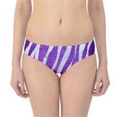 Skin3 White Marble & Purple Brushed Metal Hipster Bikini Bottoms