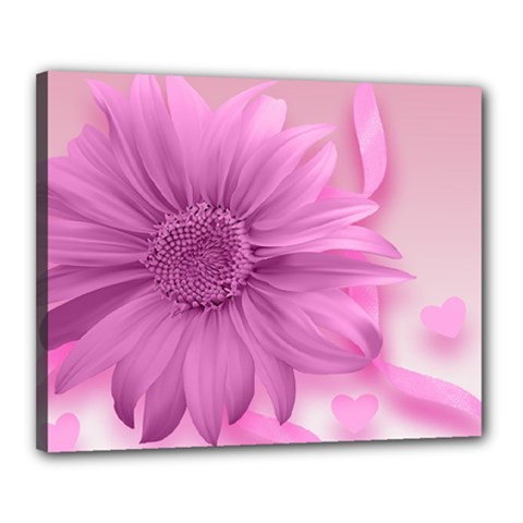 Flower Design Romantic Canvas 20  X 16
